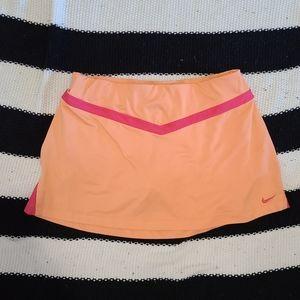 Nike Orange and Pink Mini Tennis Skirt with Shorts
